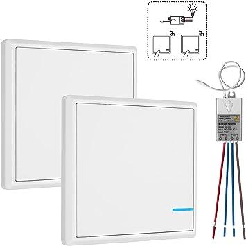Funkschalter Lichtschalter Schalttafel mit LED Licht Enthält keinen Empfänger