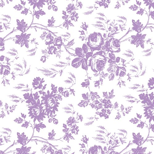 Con-Tact Brand Creative Covering Self-Adhesive Shelf and Drawer Liner, 18-Inches by 9-Feet, Toile Lavender, 18''x9', ()