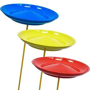 1 Jonglierteller in der Farbe Blau inkl 2 Kunststoffstäben Kinder Freizeit Weitere Sportarten
