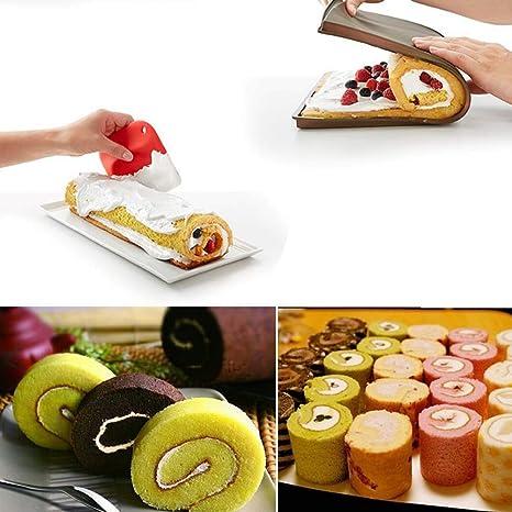 Shager - Alfombrilla de Silicona para Hornear (Reutilizable, Antiadherente, sin BPA ni Olor, hasta 220°, Resistente al Calor para Hornear Pizzas Swiss Roll Pastry), marrón, 30 * 25 * 1.5CM: Amazon.es: Hogar