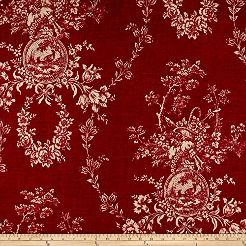 (WAVERLY Country House Toile Red Linen)