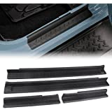 MINGLI Front and Rear Entry Guards Door Entry Sill Plate Protectors For 2007-2016 Jeep Wrangler
