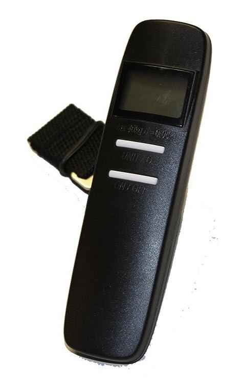 Home Zone - 40kgs Balanzas digitales para el equipaje de viaje con correa de mano para maletas o bolsos - pilas incluidas: Amazon.es: Hogar
