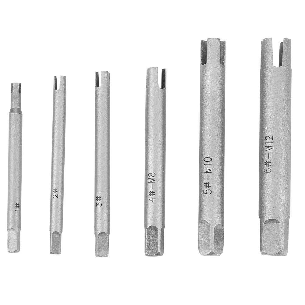 Tap Extractor 4 Flute Broken Head Screw Remover Stripped Tap Extractor Set Steel 3 Types(6 Pcs) by Wal front
