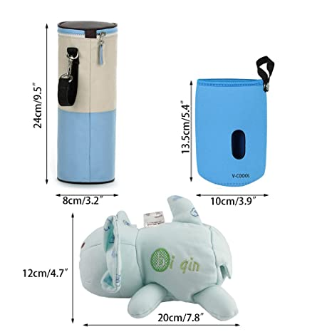 Portable Baby Kid Milk Water Feeding Bottle Pouch Holder Travel Bag w// Strape FI