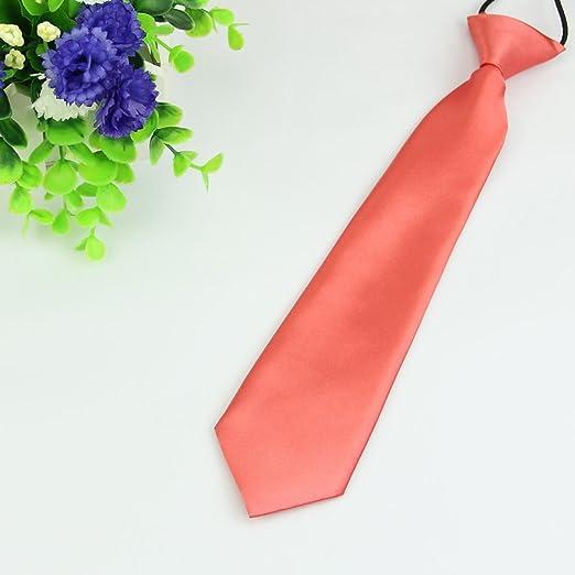Vivianu - Corbata elástica para niños, color liso Watermelon Red ...