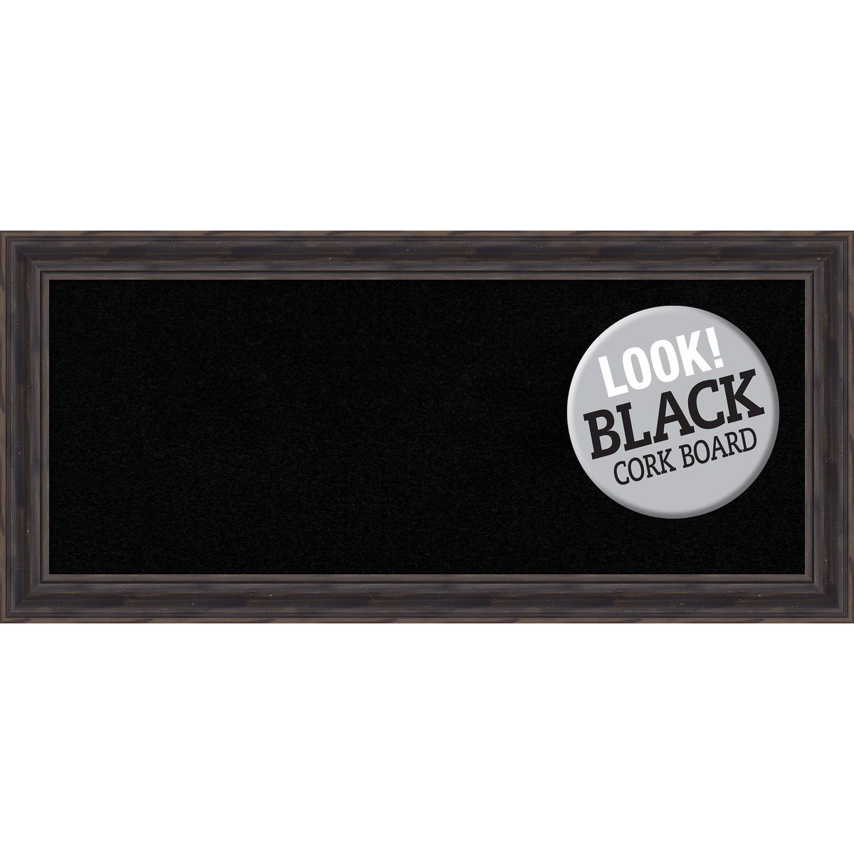 Amanti Art Outer Size 21 x 15 Framed Black Cork Board Small, Rustic Pine DSW3980078