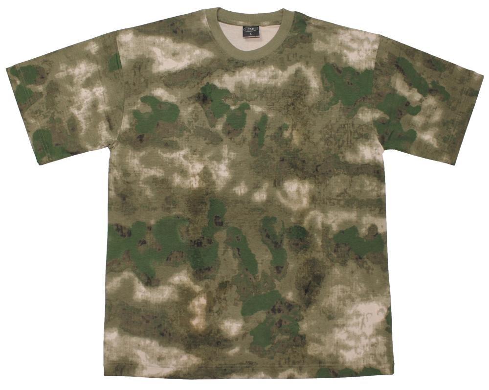 Max Fuchs Men's US T-Shirt Classic-Style 170G/M2 HDT Camo Green XXL