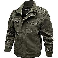 Nishore Jaquetas de algodão masculino Jaquetas militares