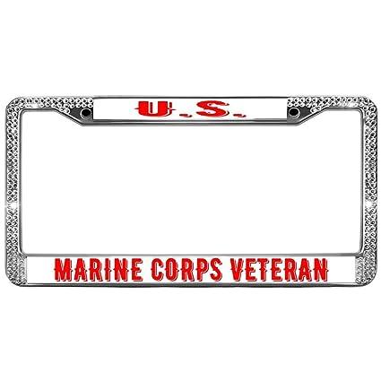 Amazon.com: Auto Friend Car Licence Plate Frames Covers U.S.Marine ...