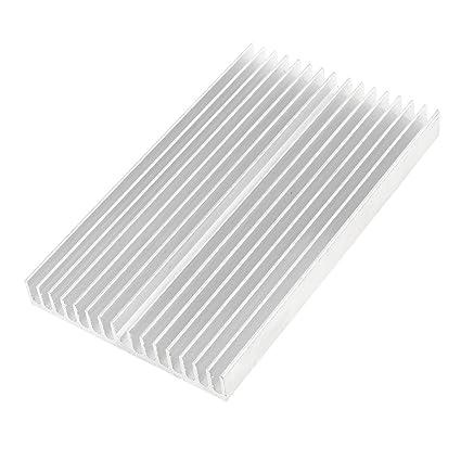 Disipador de calor - SODIAL(R)Tono de plata Enfriador de aluminio Radiador Disipador
