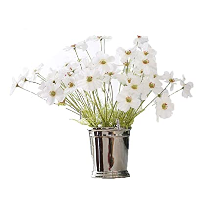 Crt Gucy 6 Pcs Artificial Galsang Flowers Simulation Flower Bouquet For  Home Hotel Office Wedding Party Garden Craft, White