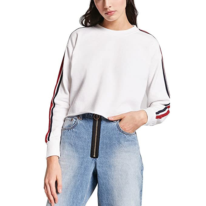 db937fb36 Crewneck Sweatshirts Women White Cute Tumblr Streetwear Pullover ...