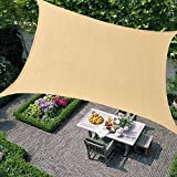 Kosycosy 10' x 13' Rectangle Sun Shade Sails 185GSM Sand Canopy, UV Block for Patio, Garden, Outdoor Facility, and Activities (10'x13', Sand)