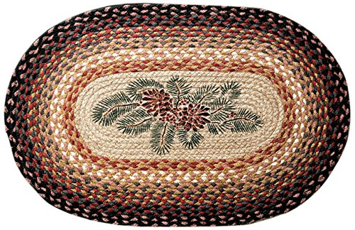 Earth Rugs OP-083 Pinecone Red Berry Design Rug, 20 x 30