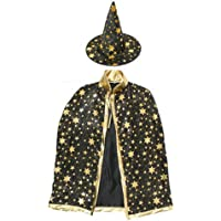 Trenton Halloween Costumes Witch Wizard Cloak with Hat for Kids Boys Girls