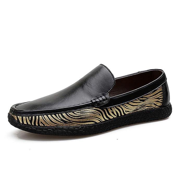 GPF-fei Zapatos de los hombres mocasines zapato de zapato de encaje para arriba zapato Lazy zapatos: Amazon.es: Ropa y accesorios