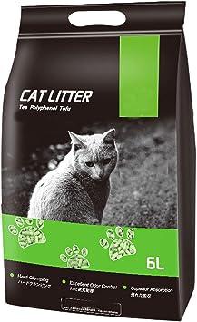 Amazon.com: NUOBIKJ - Arenero para gatos, sabor a té verde ...
