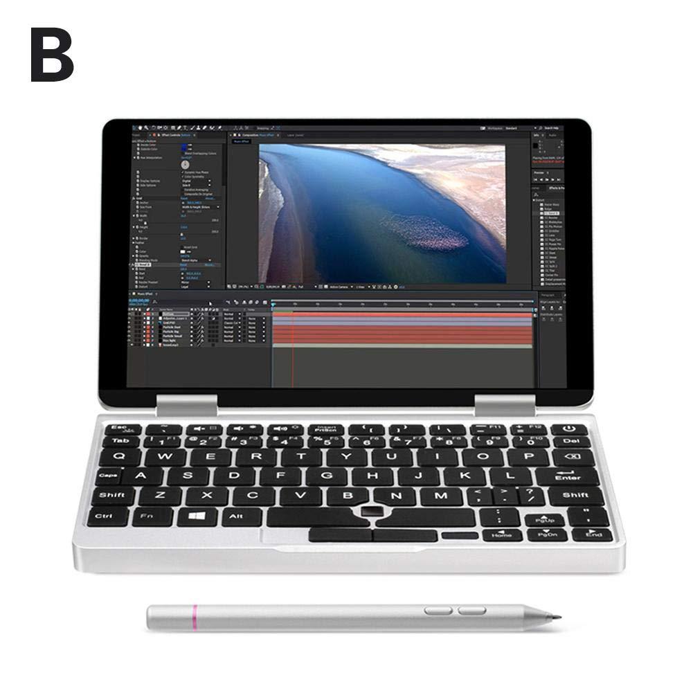 超軽量ノートPC OneMix 2S ブラック ノートパソコン 指紋認証センサー 搭載 M3-8100Y Windows10 7インチUMPC Intel Core m3-8100Y 8GBメモリ スタイラスペン 軽量 ポータブル 超小型 3.4GHz B07PKLN87N B:スタイラスペン付き