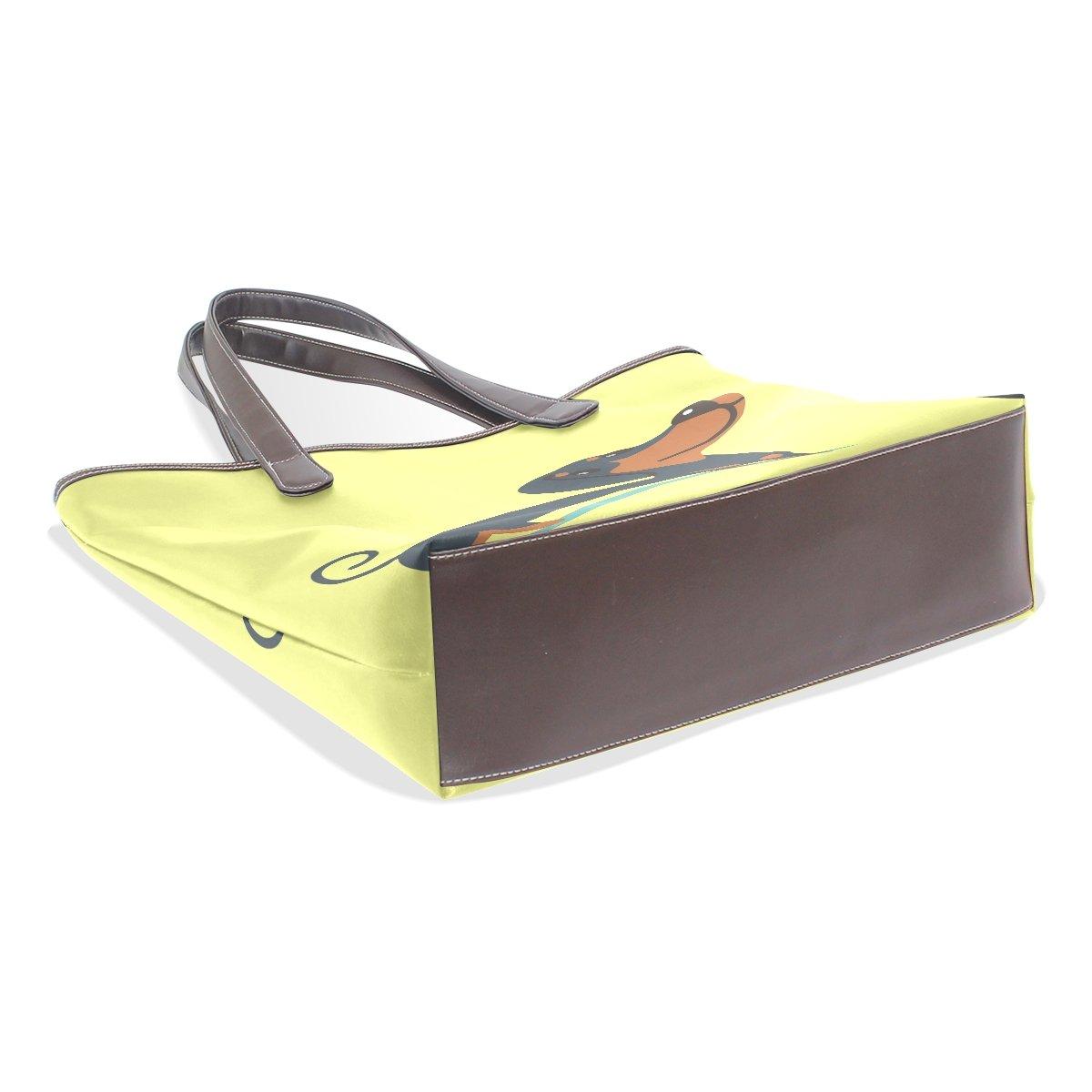 Mr.Weng Household Dachshund Lady Handbag Tote Bag Zipper Shoulder Bag