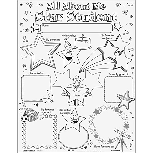 Amazon.com: Ready-To-Decorate All About Me Star Student Posters ...