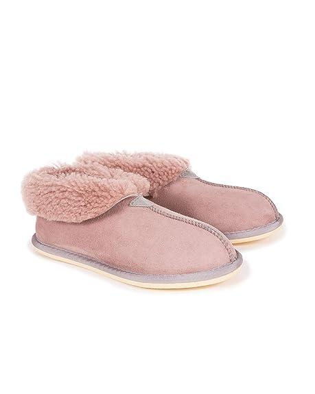 dbb6b586dc2b Celtic   Co Womens British Sheepskin Bootee Slippers - Dusky Pink - Size 3