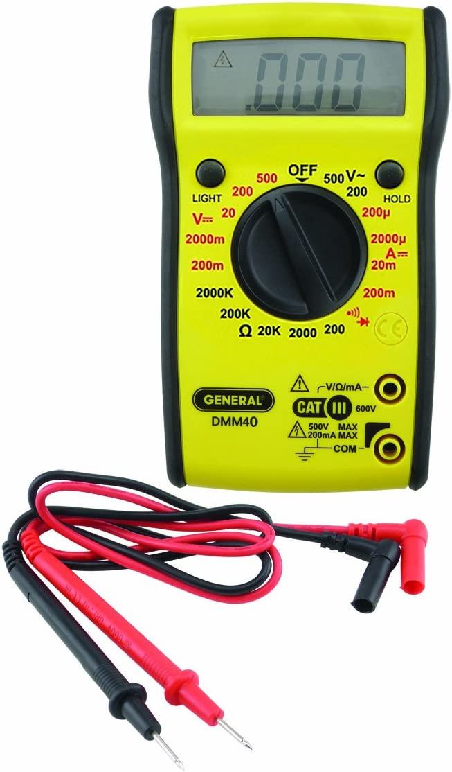 General Tools DMM40 Digital Multimeter with Bright Screen Display