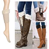 Winter Leg warmer, Furry Boot Cuffs Cover Socks for Women Girls