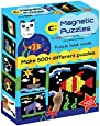 Play Panda Magnetic Puzzles Circles - Includes 400 Magnets, 200 Puzzles, Magnetic Board, Display Stand