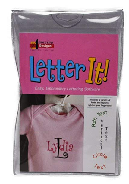 Amazon.com: Amazing Designs LETTER IT! Embroidery Machine Software