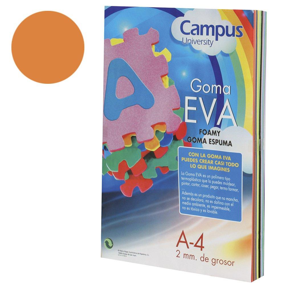 colore: arancione 2 mm Campus University EVA-A4-OR-gomma formato A4 10 pezzi