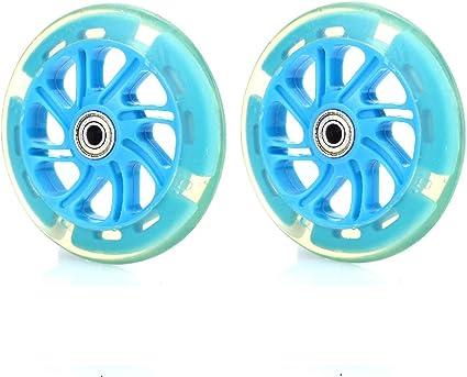 1 Paar Rollen 120 mm wheels für Roller Kinder Scooter 2 Räder Ersatz BLAU 0752