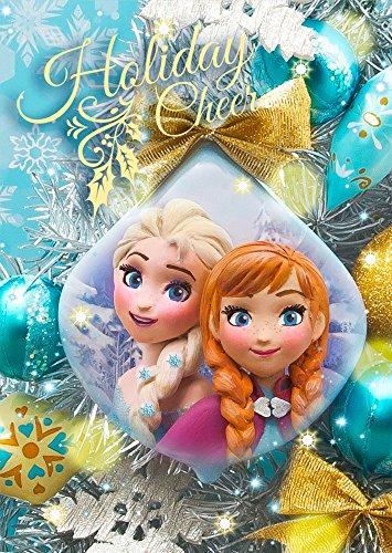 Disney Frozen Anna and Elsa Christmas Ornament 3D Lenticular Greeting Card / 3D Postcard