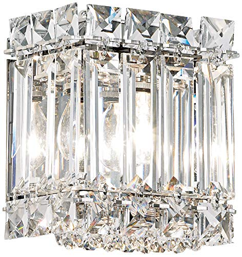Schonbek 2220A Swarovski Lighting Quantum Wall Sconce, Stainless Steel