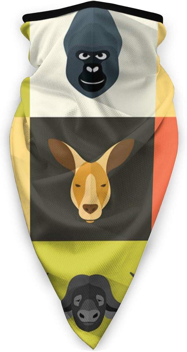 tyutrir Retratos de Animales con Sombreros de diseño Plano, pañuelo de Bufanda, Ancho, Tubo de pasamontañas Envolvente Multifuncional
