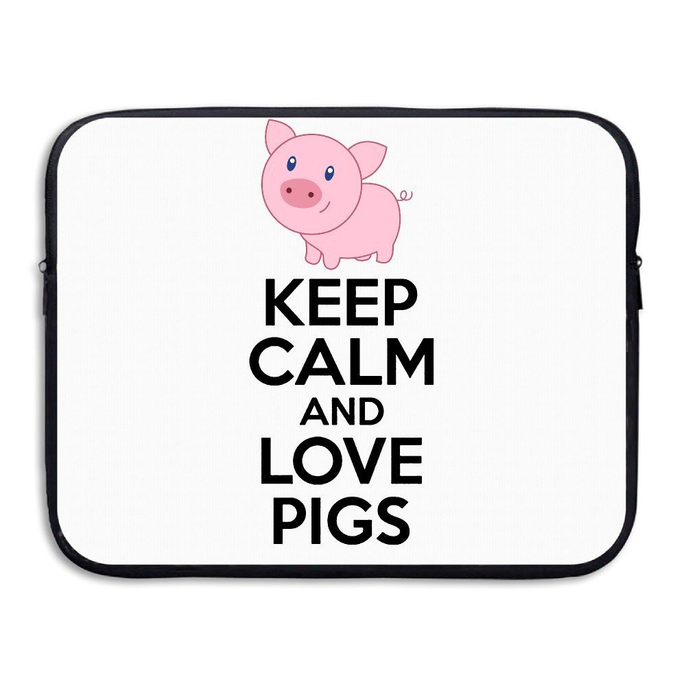 Summer Moon Fire Keep Calm And Love Pigs Laptop/Computer/Messenger/Tablet Bag With Scratch Protection Lining For Laptops Up To 15'' by Summer Moon Fire (Image #1)