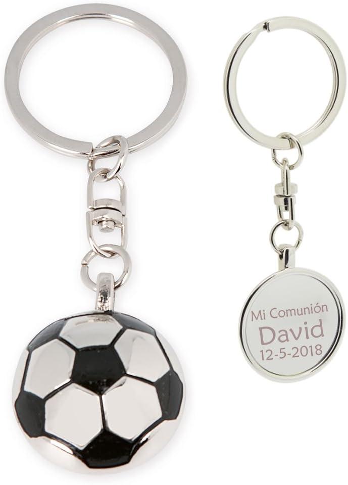 Llavero con forma de balón futbol, PERSONALIZADO. Pack 10 unidades ...