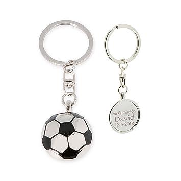 Llavero con forma de balón futbol, PERSONALIZADO. Pack 10 ...