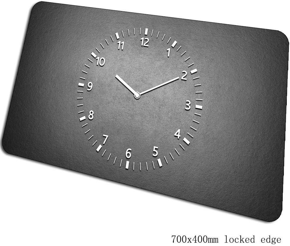 IGZNB Reloj Led Brillante Mouse Pad 700X400X3Mm Juego Patrón De Masa Jugador Gamer Computadora Notbook Tapete De Escritorio Mouse Mat Pc Color B