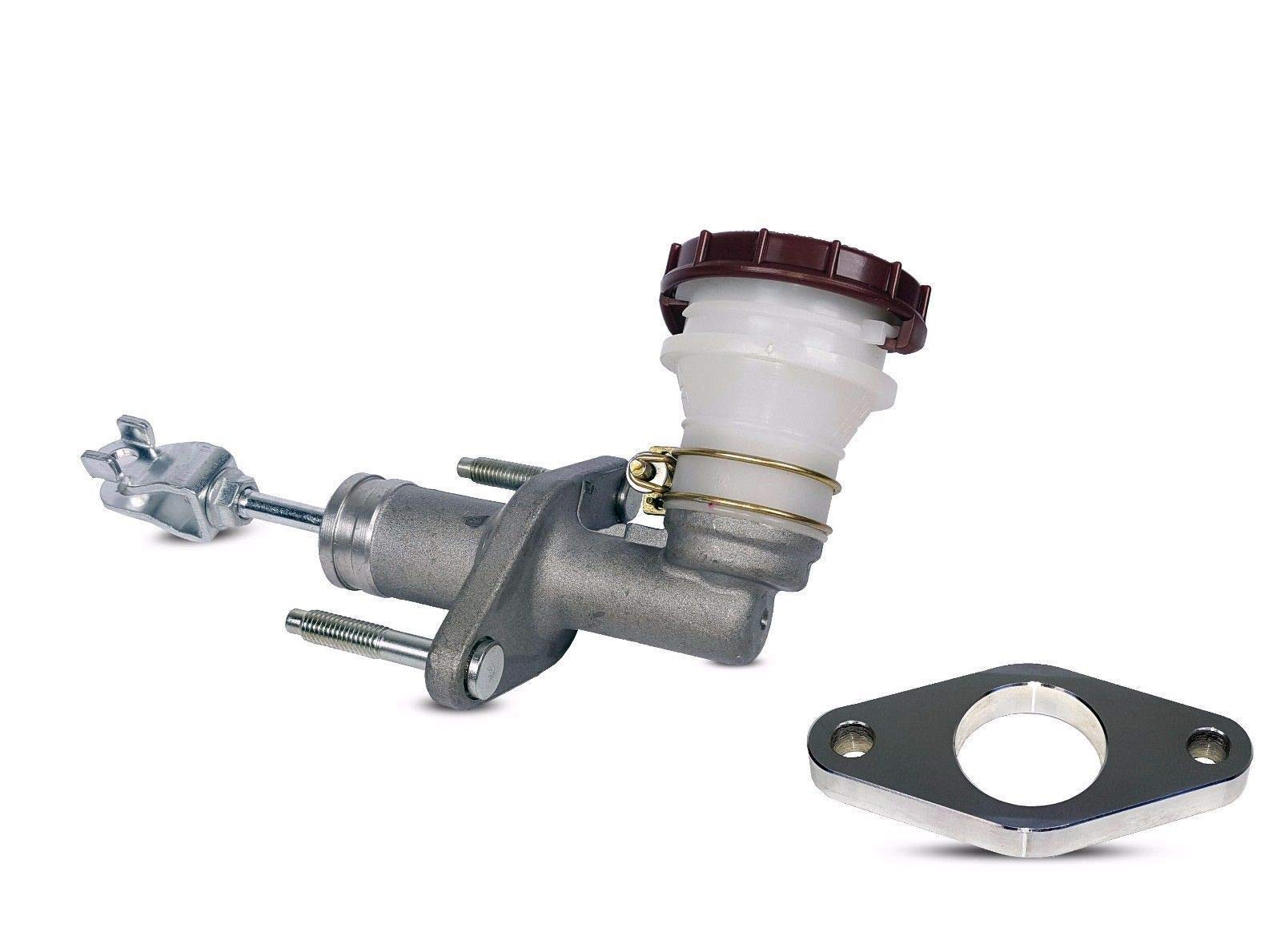 Clutch Master Cylinder With Adapter works with Acura Integra Honda Civic Si Gs Gs-R Ls Type R Hatchback Sedan Coupe 1994-2001 1.6L L4 1.8L L4 (B18B1; B16A2)