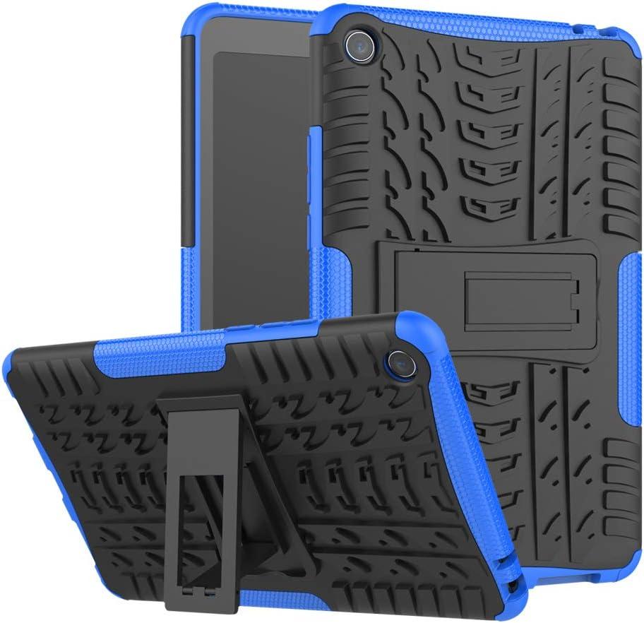 TenYll Xiaomi Mi Pad 4 Funda, Heavy Duty Silicona Híbrida Rugged Cubierta Protectora Resistente a los Golpes Estuche de Cuero con Doble protección para Xiaomi Mi Pad 4 -Azul