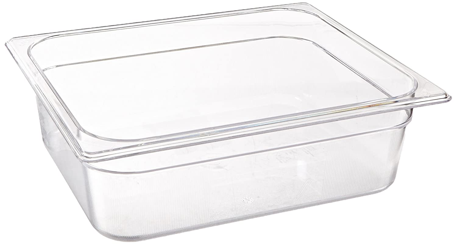 Rubbermaid Commercial Cold Food Pan, 1/2 Size, Clear, FG124P00CLR
