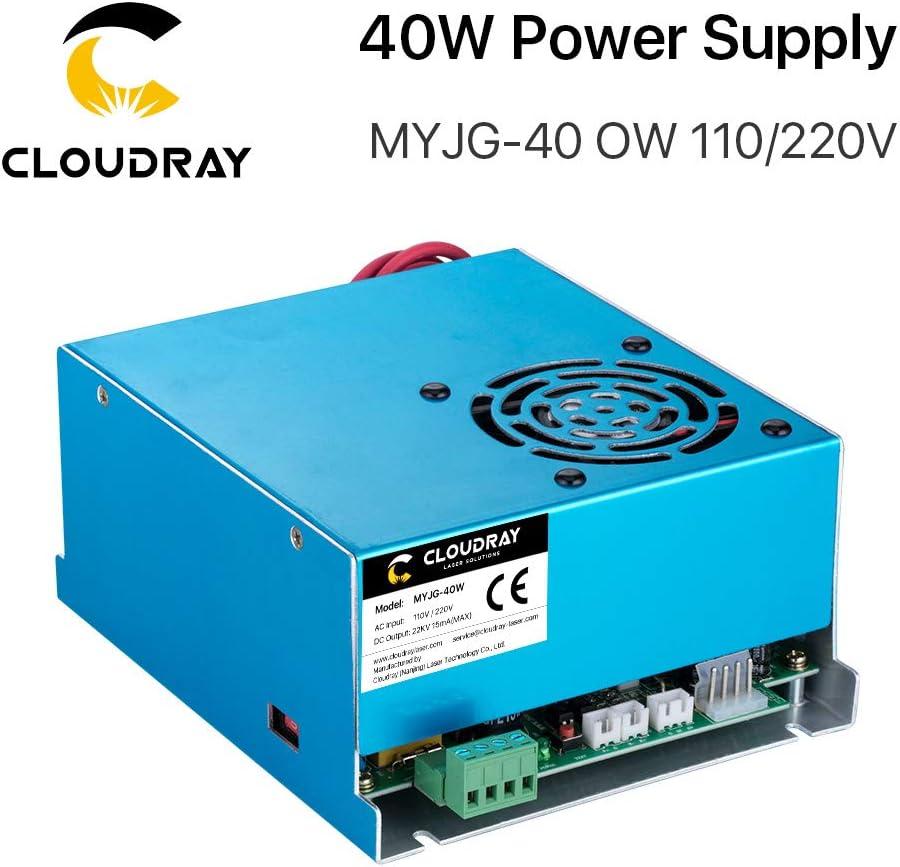 Compre m/ás descuentos Cloudray CO2 Laser Power Supply 40W 110V//220V MYJG 40