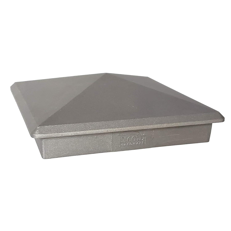 5.5 x 5.5 Heavy Duty Aluminium Pyramid Post Cap for Wood Posts Natural Mill Finish//Sandblasted Decorex Hardware