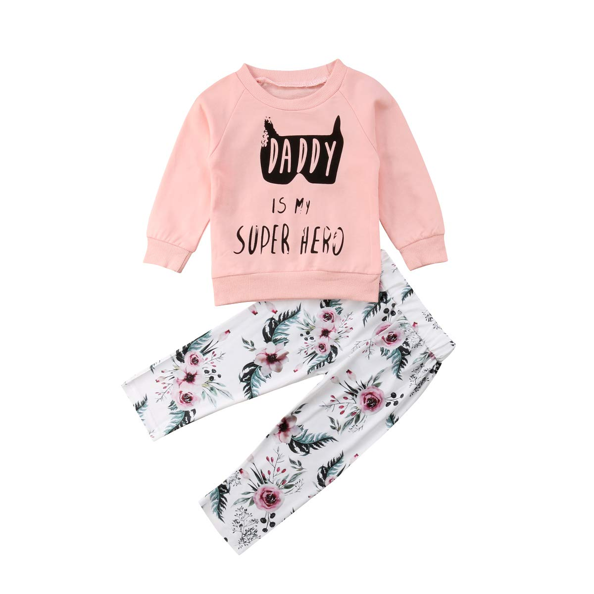 Baby Girl 3pcs Outfit Set Letter Print Long Sleeve Top+Retro Long Pants+Headband