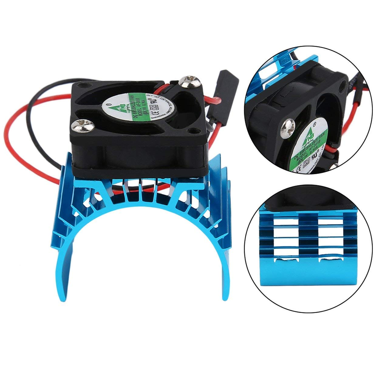 Detectorcatty Durable Brushless Heatsink Radiator and Fan Cooling Aluminum 550 540 3650 Size Sink Cover Electric Engine for RC HSP Model