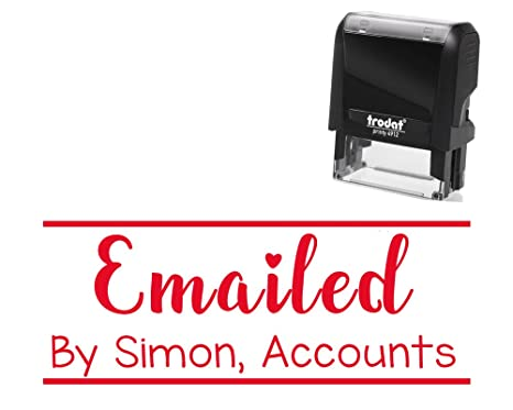 Amazon Office Stamp Self Inking Emailed Custom Personalized