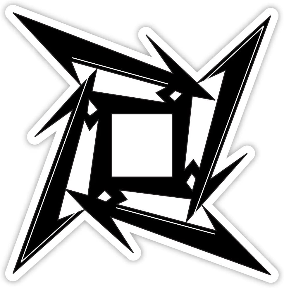 "METALLICA NINJA STAR sticker decal 4"" x 4"""