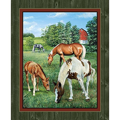 - Horse Panel Quilt Panel Wall Panel Valley Crest Fabric by the Yard
