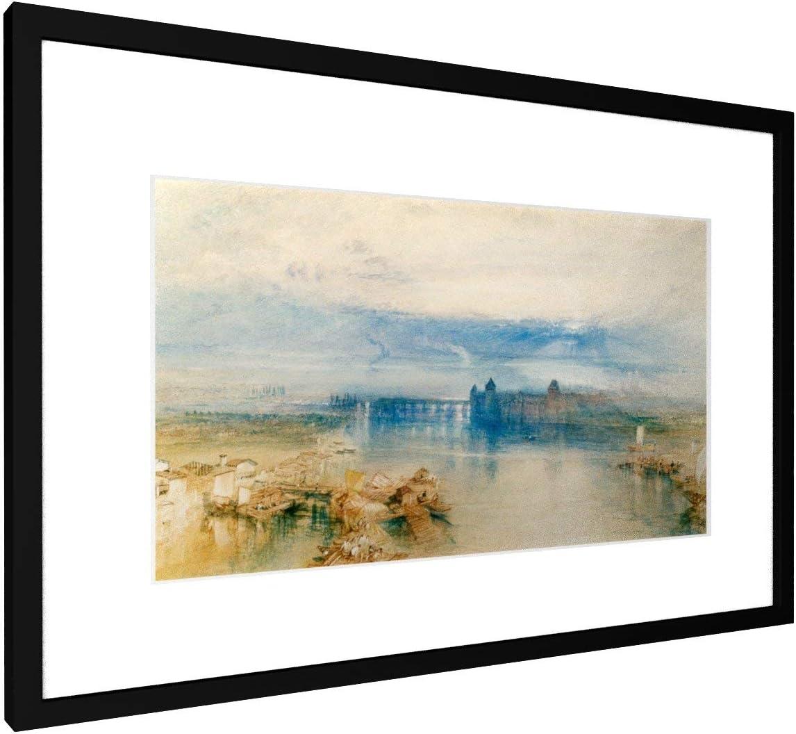 Alte Meister//Museum Gem/älde Bild auf Leinwand Foto Wand-Bild William Turner Premium Leinwandbild auf Keilrahmen Konstanz 30x20 cm Kunst Aquarell